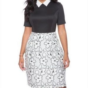 Black and White Eloquii Dress
